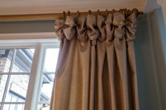 Drape panel with top ruche detail    Available in 4 color ways