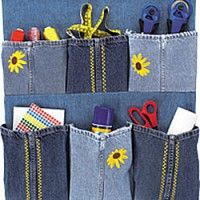 Denim Organizer Made from Repurposed Jeans