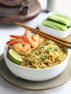 spicy satay peanut noodles