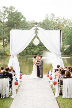 Great draping!! The Perfect Palette: Real Wedding | Richelle and Andrew