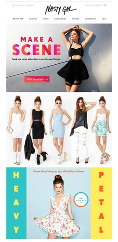 Nasty Gal #girl #email #fashion www.datemailman.com