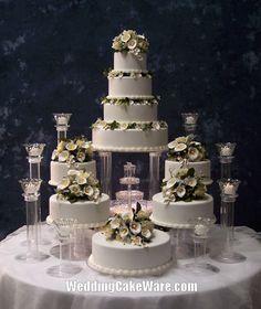 9 Tier Grand Cascade Wedding Cake Stand Stands Set | eBay $184.95
