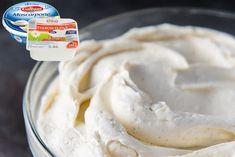 Základní vanilkový krém, který používám dovnitř dortu i na obmazání. Icing, Birthday Cake, Ice Cream, Desserts, Food, Inspiration, Mascarpone, No Churn Ice Cream, Tailgate Desserts