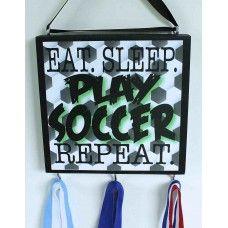 Soccer Medal Holder for your favorite soccer player www.signsoftheseason.com
