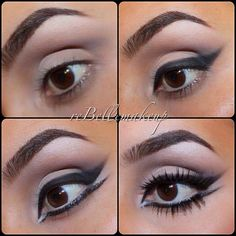 Step by step pictorial on a double wing eyeliner