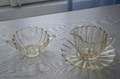 Finland, Decorative Bowls, Crystals, Blown Glass, Depression, Sugar, Vintage, Design