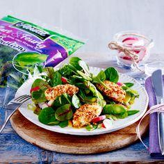 Kulinarfrisch: 10 Salat-Kreationen von Florette - blattsalat-frischkaesenockerl  Rezept