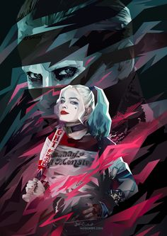 Fan art Harley Quinn y Joker - Suicide Squad Joker Y Harley Quinn, Harley Quinn Drawing, Der Joker, Joker Art, Joker Cosplay, Kate Jones, Hearly Quinn, Fantasy Anime, The Villain