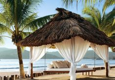 Relax in private palapas on the beach at the Viceroy Zihuatanejo in Mexico. Destin Hotels, Beach Resorts, Luxury Resorts, Beach Bungalows, Inclusive Resorts, Dream Vacations, Vacation Spots, Vacation Destinations, Vacation Days