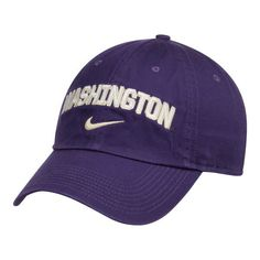 0cbc9c28139 Washington Huskies Nike Heritage 86 Wordmark Swoosh Adjustable Hat - Purple