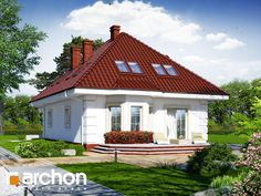 Dom w aksamitkach 3 Cottage House Plans, Cottage Homes, Bungalows, Home Fashion, Gazebo, Outdoor Structures, Behance, House Styles, Home Decor