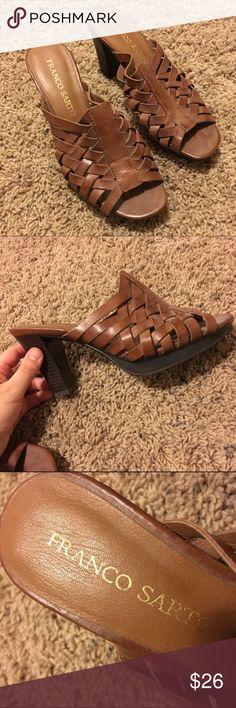 Brown Franco Sarto heels Hardly worn. Size 7. Franco Sarto Shoes Heels