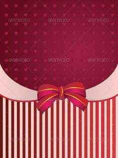 Striped background with bow ...  abstract, anniversary, background, beautiful, birthday, blank, border, bow, box, card, celebrate, celebration, decoration, decorative, design, event, festive, frame, gift, give, giving, greeting, happiness, happy, heart, holiday, invitation, label, love, mama, mom, mother, ornament, package, paper, party, pink, present, red, ribbon, sticker, stripe, surprise, tag, template, tradition, valentine, white, wrap