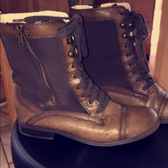 Brand new!! Worn maybe once, so cute! Just too big Shoes Lace Up Boots