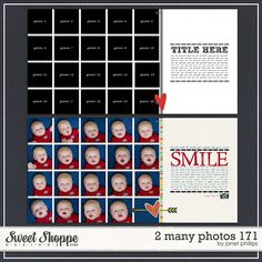 Sweet Shoppe Designs::2 Page Layout Templates::2 Many Photos 171 by Janet Phillips