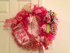 Mason jar wreath