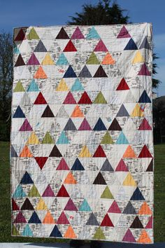 60 degree triangles. Little Island Quilting