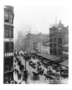 Downtown Pittsburgh, PA., Liberty Avenue Scene, ca. 1900-1910.