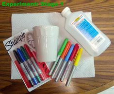 I've been looking into this Sharpie+mug+350 degrees craft and it looks as though many people have been experiencing fading or the colors coming off altogether. Therefore, I would like to share this blogger's page. She explains to the tee how she cooked her mug at 425 for 30 minutes and then left the mug to cool in the oven. The results: a permanent cup at last! -- good because I did this once at 350 and the sharpie washed off!