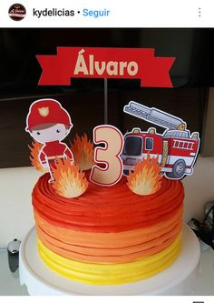 Firefighter Birthday Cakes, 4th Birthday, Birthday Parties, Fire Safety Tips, Diy Cake, Cakes For Boys, Diy And Crafts, Birthdays, Party