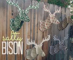 DIY deer head decor, maybe could make with stiff card board