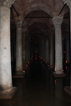 Magnificent Underground Cistern in Istanbul, Turkey Elf Rogue, Hades And Persephone, Into The Fire, Kirchen, Story Inspiration, Underworld, Wander, The Darkest, Medieval
