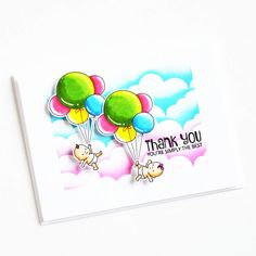 Stamps: Balloon Bunch, Says It All / Stencils: Cloudy Day Round Balloons, Heart Balloons, Cloudy Day, Clear Stamps, Stencils, Backdrops, Banner, Cards, Blog