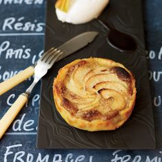 Apple Tart with Almond Cream | The thin, crisp pastry shell is filled with a layer of almond cream made from both finely ground and coarsely chopped nuts that give the tart layers of texture.