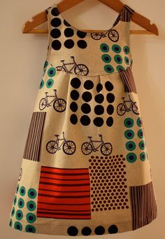 Echino 'bicycle dress' by BabyLuxDesigns, loosely based on Simplicity pattern no. 2375