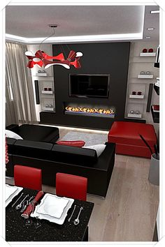 Black and Red Living Room Decor. 20 Black and Red Living Room Decor. Black Red and Gold Living Room Decor Fine Living Room Ideas Black And Red Living Room, Red Living Room Decor, Red Home Decor, Living Room Color Schemes, Living Rooms, Black Room Decor, Decor Room, Wall Decor, Casa Disney