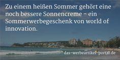 Zu einem heißen Sommer gehört eine noch bessere Sonnencreme - ein Sommerwerbegeschenk. Das-das-werbeartikel-portal.de