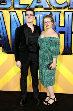 Carrie Hope Fletcher and Oliver Ormson attend the European Premiere of 'Black Panther' at Eventim Apollo on February 2018 in London, England. - 180 of 198 Carrie Hope Fletcher, Broadway Plays, February 8, Chf, Love To Meet, Black Panther, Apollo, London England, Her Style