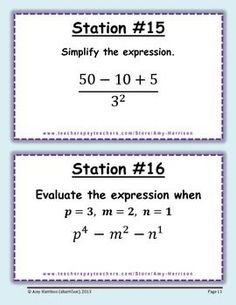 Middle School Stations