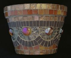 Minerva Mosaics Vases, Candleholders, and Flower Pots Mosaic Planters, Mosaic Garden Art, Mosaic Vase, Mosaic Flower Pots, Ceramic Flower Pots, Mosaic Tiles, Mosaic Crafts, Mosaic Projects, Projects To Try