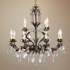 """Kathy Ireland Venezia 12-Light 28"""" Wide Bronze Chandelier -"""