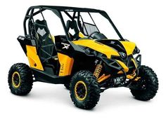 New 2014 Can-Am Maverick™ X rs 1000R ATVs For Sale in Ohio. 2014 CAN-AM Maverick™ X rs 1000R, Maverick X rs The Maverick 1000R X rs will satisfy the appetite of any high-performance side-by-side enthusiast. Offers additional features like front and rear FOX PODIUM X Performance RC2.5 HPG piggyback shocks, 12 in. aluminum beadlock wheels, an analog / digital gauge, custom steering wheel and eye-catching X package trims. Highlights - Maverick X rs 1000R: 101 hp Rotax 1000R V-Twin engine with…