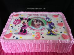 Minnie and Daisy Birthday Cake
