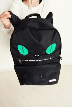 Evil Cat Backpack Size: 30 x 45 x 12cm  I will post the item off within three working days after payment received fully~  so it takes around 10 to 16Days(excluding sat,sun and public holidays)to get to USA $12 to anywhere in the world with tracking number =]  Thank you~