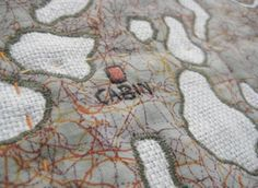 Map Quilts by Leah Evans « Lionhug