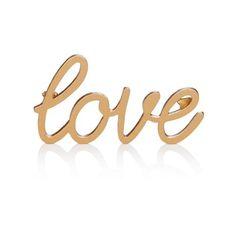Schriftzug Love, Clean chic Vorderansicht