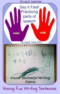 Once a child is familiar with sight words it is time for them to start to learn to write sentences. We like having fun writing sentences so we came up with some beginning sentence writing games.