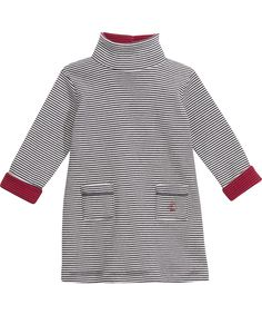 Petit Bateau gorgeous baby dress with stripes and roll neck. petit-bateau.en.emilea.be