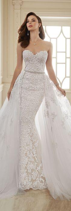 Wedding Dresses by Sophia Tolli - Spring 2016 Collection - Style No. Y11652 - Maeve #detachableskirtweddingdress