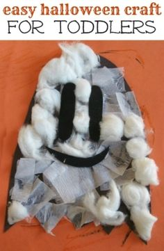 Easy Halloween ghost craft for kids by bridgettedlocke