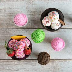 """Abkühlung gefällig? Von unseren sommerlichen Eiskreationen werden nicht nur eure Kinder begeistert sein! Wie wäre es mit Zitronen-Buttermilch oder einem Sahne-Eis à la """"Milky Way""""? Im Handumdrehen selber machen. Cake, Desserts, Food, Homemade Ice, Diy, Kids, Tailgate Desserts, Deserts, Kuchen"""