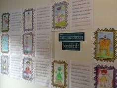 PY 4&5 Uke 5: Denne uken har vi begynt å jobbe med sammenhengende håndskrift. Vi har arbeidet med en før-vurdering, der elevene trakk lapper med forskjellige morsomme setninger og satt sammen til en historie. Historien ble skrevet med sammenhengende skrift og illustrert. En veldig populær oppgave som slo godt an, spesielt hos guttene. Her ser dere de flotte resultatene:)
