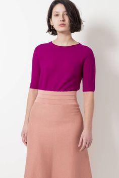 Molli elisa pure worsted compact cotton skirt - wendela van dijk