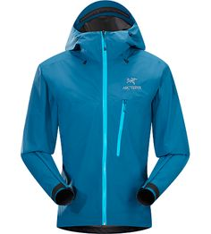 Alpha SL Jacket Men's Alpha Series: Climbing and alpine focused systems | SL: Super light. Superlight, exceptionally packable GORE-TEX® with Paclite® product technology jacket created for climbers and alpinists needing emergency waterproof/breathable protection in sudden storms.