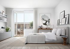 I love these striking residences designed by Oscar Properties based in Stockholm, Sweden. The apartments are all understatedly chic—modern with warm, livable touches. Combing through all the . Small Master Bedroom, Master Bedroom Design, Home Bedroom, Bedroom Decor, Calm Bedroom, Arranging Bedroom Furniture, Small Bedroom Furniture, Furniture Layout, Furniture Sets