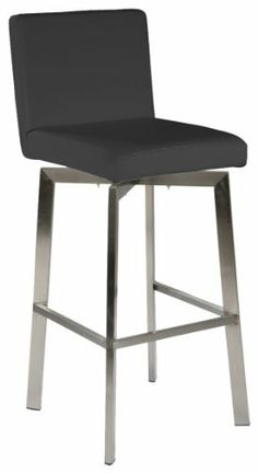 Moe's Home Collection Giro Counter Stool, Black by Moe's Home Collection. $173.50. Black swivel seat. No assembly required. Giro Counter Stool has a transitional style that works in almost any room. Brushed stainless steel frame with regenerated leather back and seat. Stool is 43.3-inch tall by 23.6-inch; seat is 26-inch high. Functional stool with transitional look and swivel seat. Moe's home collection is a family-owned company with roots in washington state and vancouver, BC. ...